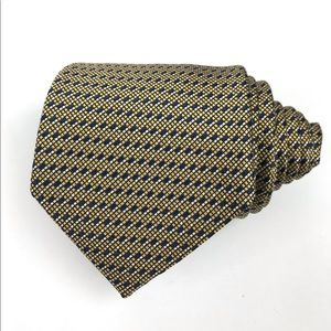 Ermenegildo Zegna Gold/Blue Woven Geometric Tie